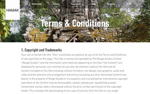 Screenshot of Terms Page hamak.info - Terms & Conditions | Rough Guides - hamak.info - captured July 11, 2017