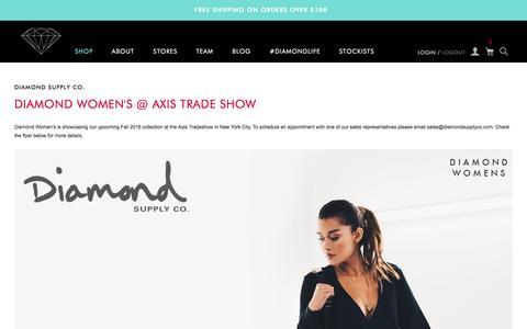 Screenshot of Blog Press Page diamondsupplyco.com - Diamond Supply Co. - captured Feb. 23, 2016