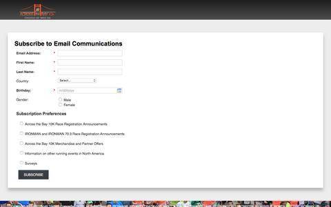 Screenshot of Landing Page ironman.com captured April 27, 2017
