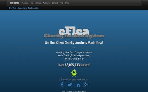 Screenshot of Home Page eflea.ca - On-Line Charity Auctions Made Easy | eFlea Charity Auction System - captured Dec. 6, 2015