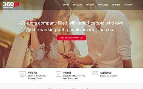 Screenshot of Jobs Page 360pi.com - We're Hiring   360pi - captured June 16, 2015