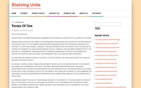 Screenshot of Terms Page advantagegroupuk.com - Terms Of Use | Shelving Units - captured Nov. 16, 2018