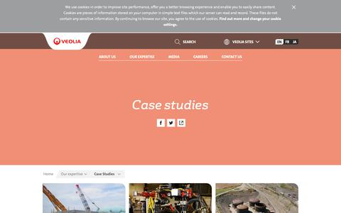 Screenshot of Case Studies Page veolia.com - Case studies | Veolia Nuclear Solutions - captured Nov. 1, 2018