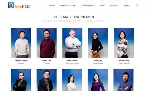 Screenshot of About Page nexpcb.com - About Us                      – NexPCB - captured Jan. 8, 2018