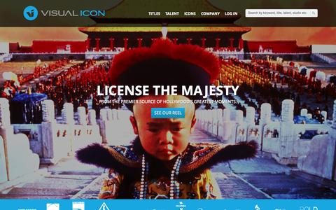 Screenshot of Home Page visual-icon.com - VISUAL ICON - We License Hollywood - captured Aug. 15, 2015
