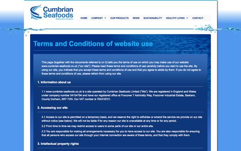 Screenshot of Terms Page cumbrian-seafoods.co.uk - Cumbrian Seafoods - captured Oct. 3, 2014