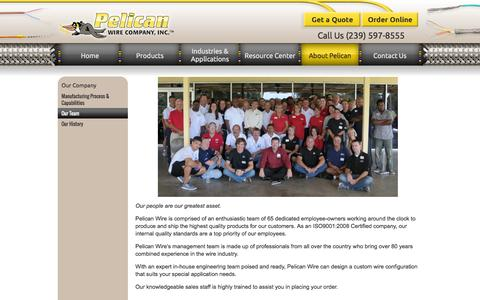 Screenshot of Team Page pelicanwire.com - Our Team | Pelican Wire - captured Oct. 2, 2014