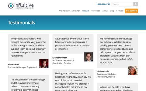 Screenshot of Testimonials Page influitive.com - Testimonials Archive - Influitive - captured Dec. 4, 2015