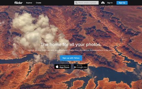 Screenshot of Home Page flickr.com - Flickr, a Yahoo company | Flickr - Photo Sharing! - captured Feb. 11, 2016