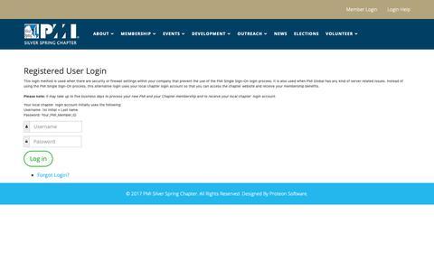 Screenshot of Login Page pmissc.org - Login Help - captured Nov. 30, 2018