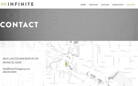 Contact Infinite | A Creative, Interactive Marketing Agency in Dallas