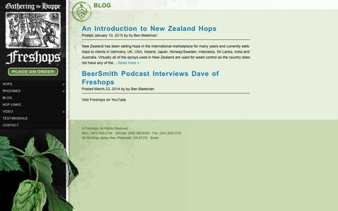 Screenshot of Blog freshops.com - What's Hopping at Freshops - Freshops - captured Oct. 22, 2018