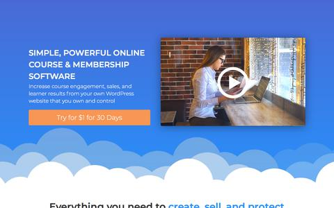 Screenshot of Home Page lifterlms.com - WordPress LMS Plugin by LifterLMS® - captured July 13, 2019