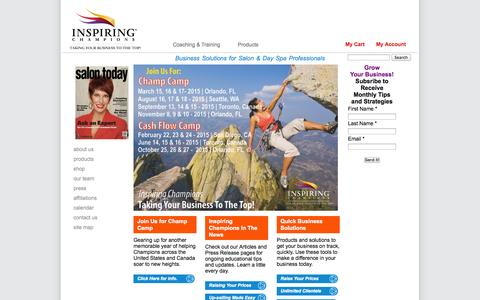Inspiring Champions | Creating Business Solutions for Salon &  Day Spa Professionals