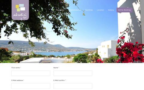 Screenshot of Contact Page akrotirihotel.gr - Contact | Akrotiri Hotel - captured July 24, 2016