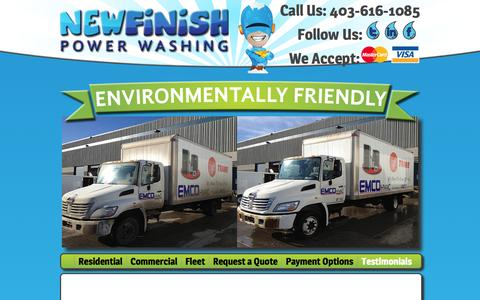 Screenshot of Testimonials Page newfinishpowerwashing.ca - New Finish Powerwashing Inc. - captured Oct. 7, 2014