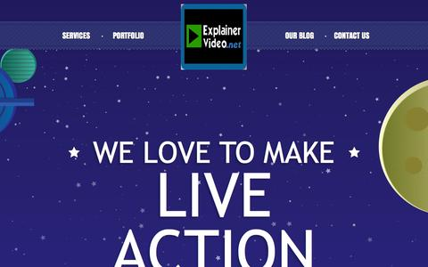 Screenshot of Home Page explainervideo.net - Animated Explainer Video Production Service : Explainer Video - captured Nov. 14, 2016