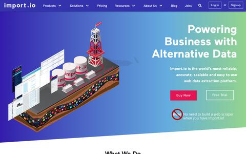 Home Page - Import.io - Web Scraping, Web Scraper, Data Extraction, Web Extraction, Web Data, Web Harvesting