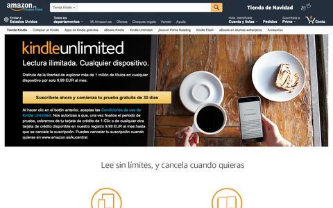 Screenshot of Signup Page amazon.es - Kindle Unlimited Sign Up - captured Nov. 10, 2018