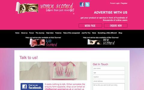 Screenshot of Contact Page women-scorned.co.uk - Contact - captured June 14, 2017
