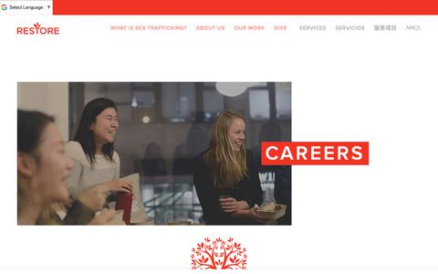 Screenshot of Jobs Page restorenyc.org - Open positions at Restore NYC — Restore NYC - captured Oct. 20, 2018