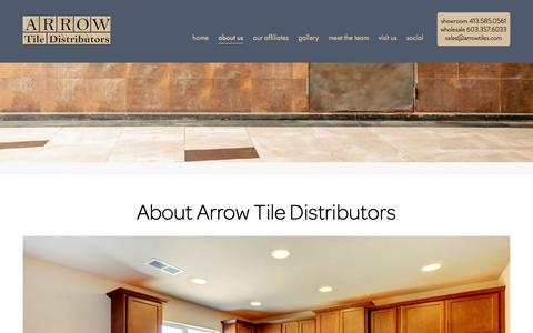 Screenshot of About Page arrowtiles.com - About Us - Arrow Tile Distributors - captured Oct. 27, 2014