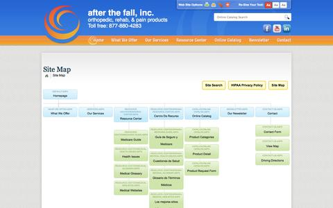 Screenshot of Site Map Page afterthefallinc.com - After The Fall, Inc. :: Site Map - captured Oct. 4, 2014