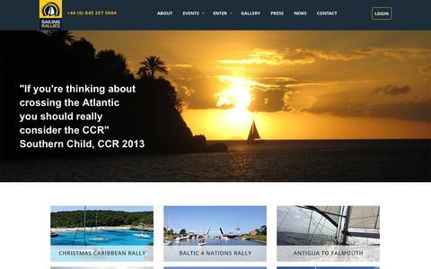 Screenshot of Signup Page sailingrallies.com - Sailing Rallies - captured Oct. 8, 2014