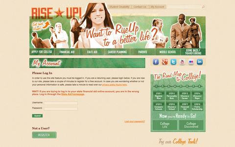 Screenshot of Login Page riseupms.com - Log In   RiseUp! Mississippi - captured Sept. 30, 2014