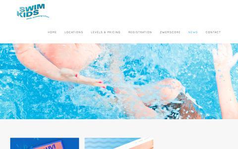 Screenshot of Press Page swimkids.eu - News - SwimKids | Smile, swimming is fun! - captured Nov. 16, 2017