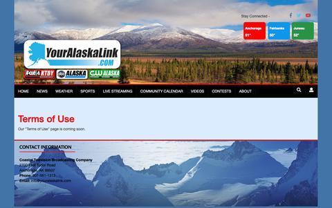Screenshot of Terms Page youralaskalink.com - Terms of Use | Site | youralaskalink.com - captured Sept. 28, 2018