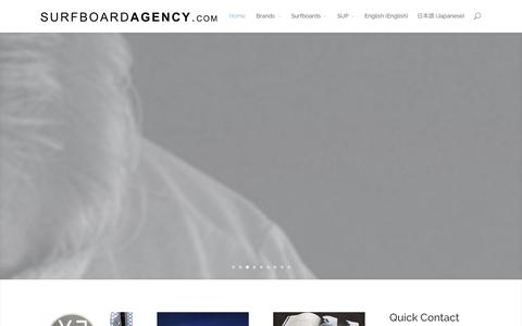 Screenshot of Home Page surfboardagency.com - The Surfboard Agency | The Finest Hand Crafted Surfboards Available From The Worlds Best Shapers | - captured Sept. 23, 2014