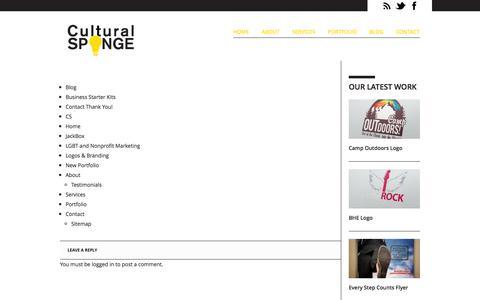 Screenshot of Site Map Page culturalsponge.com - Sitemap | Print & Online Design Marketing | Cultural Sponge  | Cultural Sponge - captured Sept. 30, 2014