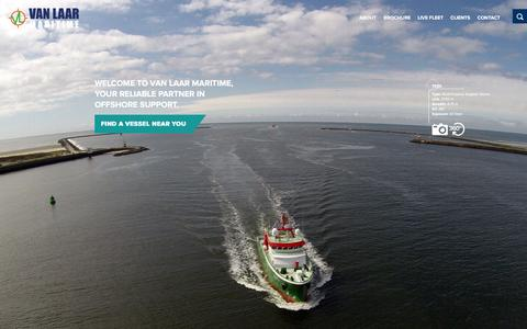 Screenshot of Home Page vanlaarmaritime.com - Homepage - Van Laar Maritime : Van Laar Maritime - captured Jan. 22, 2016