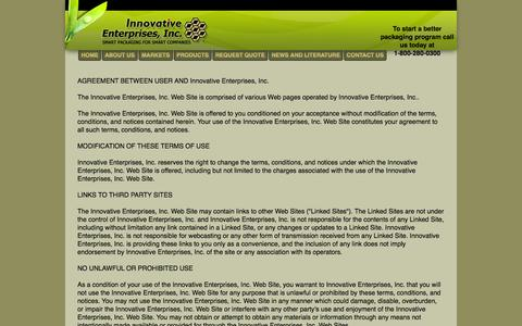 Screenshot of Terms Page innovative-1.com - Terms of Use - captured Oct. 6, 2014