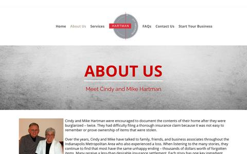 Screenshot of About Page hartmaninventory.com - About Us | Hartman Inventory, LLC - captured Sept. 27, 2018