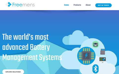 Screenshot of Home Page freemens.fr - Battery Monitoring and Battery Management Systems | Freemens.fr - captured Aug. 21, 2018