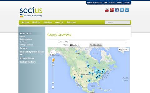 Screenshot of Locations Page socius1.com - Socius Locations | Socius - captured Sept. 19, 2014