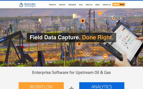 Screenshot of Home Page sevenlakes.com - Home - Seven Lakes Technologies - captured Feb. 12, 2016