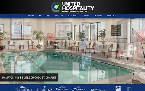 Screenshot of Home Page unitedhosp.com - Chicago hotel management company | United Hospitality Resources Management - captured Feb. 16, 2016