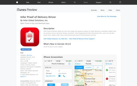 Infor Proof of Delivery Driver on the App Store