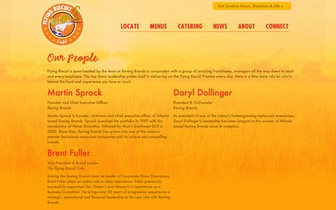 Screenshot of Team Page flyingbiscuit.com - Our People - - captured Oct. 26, 2014