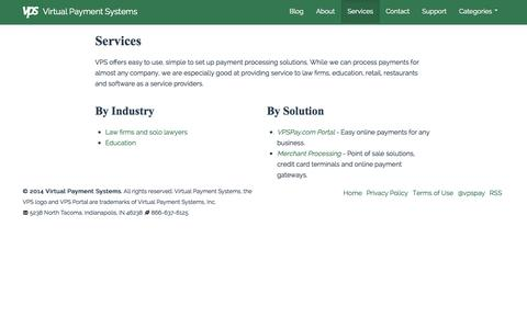 Screenshot of Services Page virtualpaymentsystem.com - Services - Virtual Payment Systems - captured Oct. 9, 2014