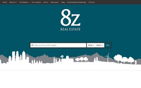 Screenshot of Home Page 8z.com - 8z Real Estate :: Realtors in Colorado and the San Francisco Peninsula - captured Dec. 1, 2015