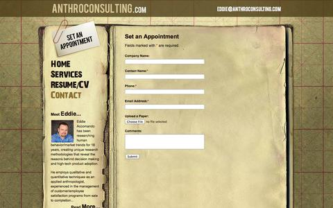 Screenshot of Contact Page anthroconsulting.com - Contact - Anthroconsulting - captured Sept. 30, 2014