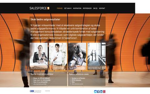 Screenshot of Home Page salesforce1.dk - SalesForce1 | Succesfuld eksekvering af salgsstrategien - captured Sept. 30, 2014
