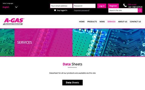 Screenshot of Services Page agasem.com - A-Gas EM Resource Centre   A-Gas EM - captured Dec. 4, 2018