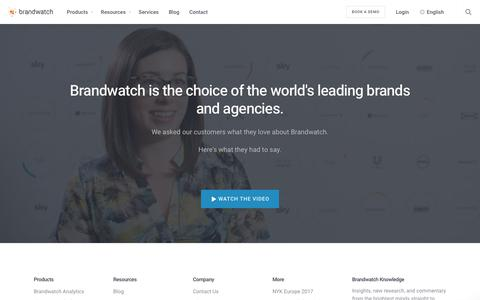 Customer Testimonial Video | Brandwatch