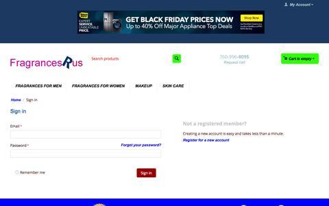 Screenshot of Login Page fragrancesrus.com - Sign in - captured Nov. 21, 2016