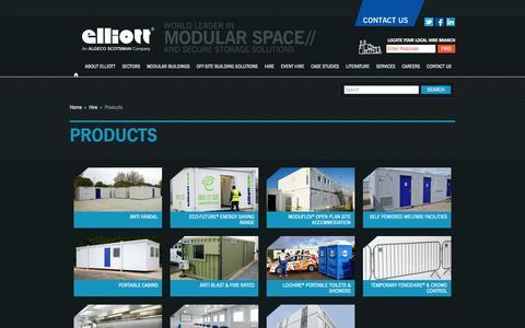 Screenshot of Products Page elliottuk.com - Products | Elliott - captured Sept. 22, 2014